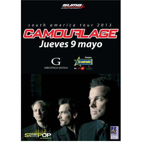 CAMOUFLAGE  South America Tour 2013 Lima -Perú