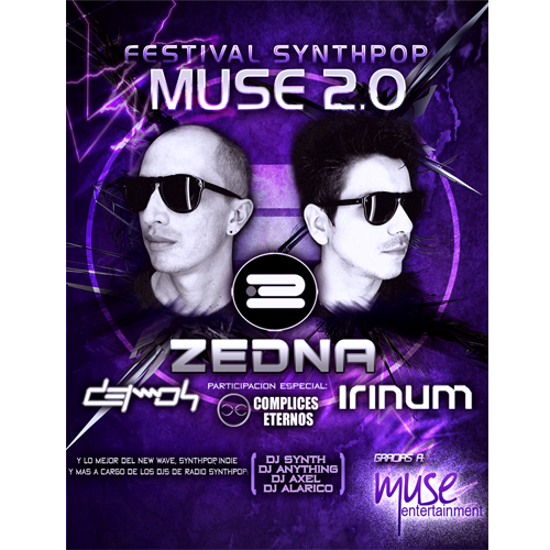 Festival Synthpop Muse 2.0 Lima, La Oroya y Huancayo